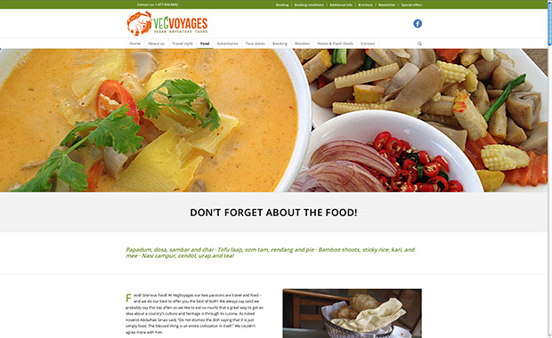 vegan site design