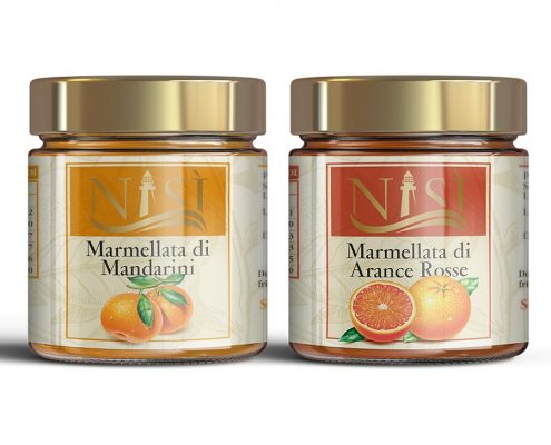 packaging design marmellate, grafica etichette marmellata